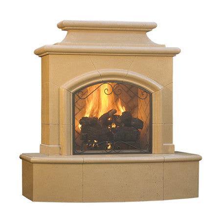 Mariposa Outdoor Fireplace - Chimney Cricket