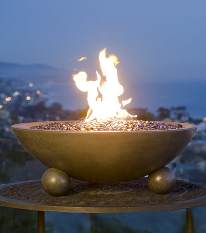 "American Fyre Designs 32"" Versailles Fire Bowl with Ball Feet"
