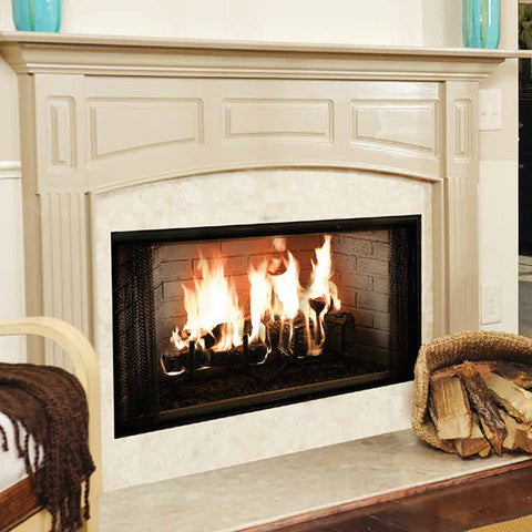 "Majestic 36"" Royalton Wood Burning Fireplace - Chimney Cricket"