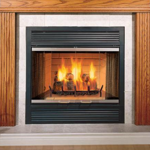 "Majestic 36"" Sovereign Wood Burning Fireplace - Chimney Cricket"