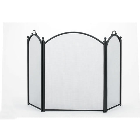 Fireplace Tools - Woodfield 3-Panel Arched Screen # 61038 - Chimney Cricket