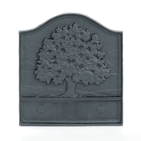 Fireplace Accessories - Great Oak Cast-Iron Fireback #61095 - Chimney Cricket