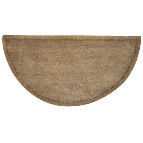 Fireplace Accessories - Woodfield 100% Wool Hearth Rug - Contemporary Beige #61142