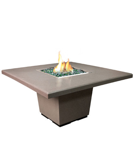 American Fyre Designs Cosmo Square Dining Firetable - Chimney Cricket