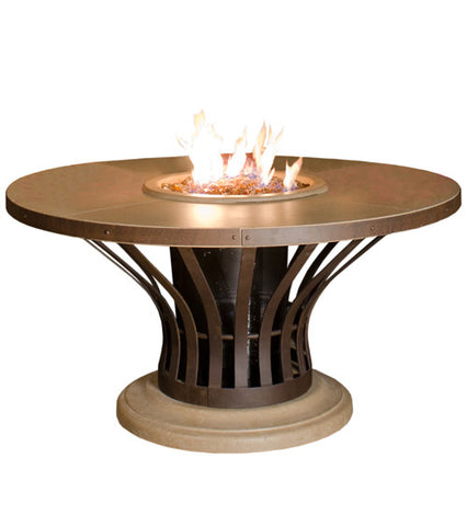 American Fyre Designs Fiesta Dining Firetable - Chimney Cricket