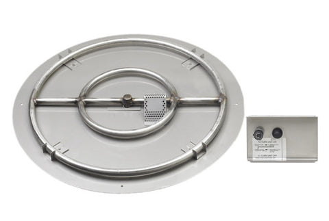 American Fyre Designs OCBE-44 Series Large Circular Double Burner Kit with Plate - Chimney Cricket