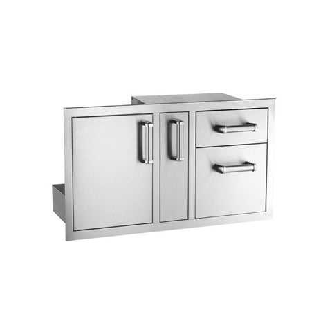 Access Door with Platter Storage & Double Drawer - Chimney Cricket