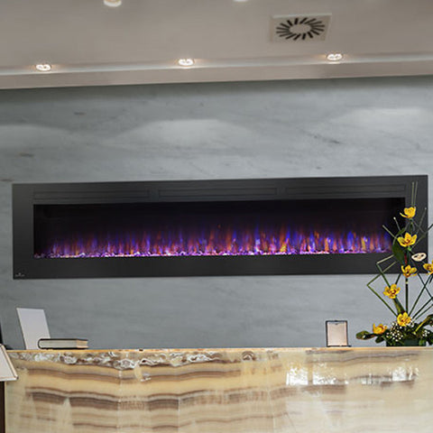 Allure Series Wall Mount Linear Electric Fireplaces - Chimney Cricket