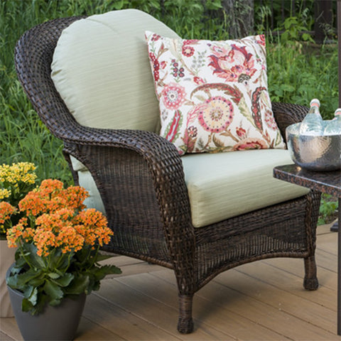 Balsam Collection Resin Wicker Chair - Dupione Aloe - Chimney Cricket
