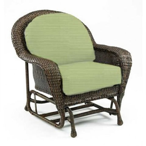 Balsam Collection Resin Wicker Glider Chair - Dupione Aloe