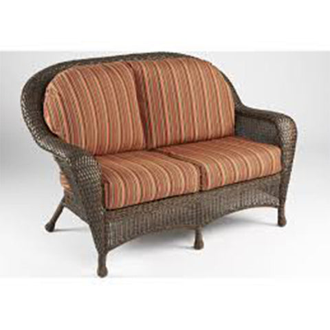 Balsam Collection Resin Wicker Loveseat - Dorsette Cherry