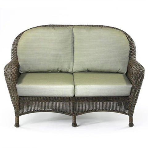 Balsam Collection Resin Wicker Loveseat - Dupione Aloe
