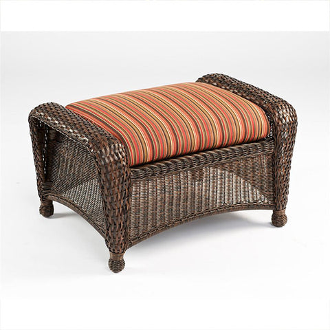 Balsam Collection Resin Wicker Ottoman - Dorsette Cherry - Chimney Cricket