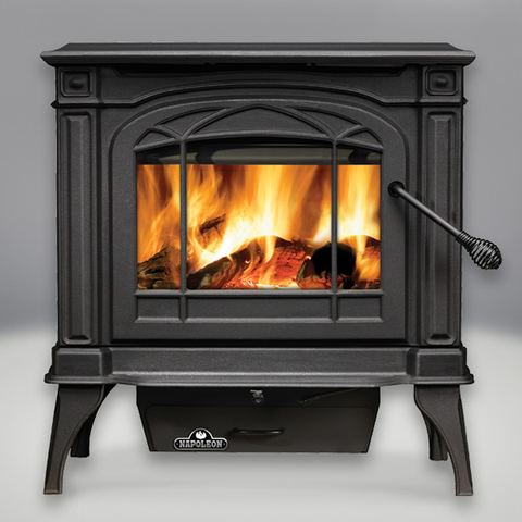 Cast Iron Wood Burning Stove  1400 Banff – Metallic Black
