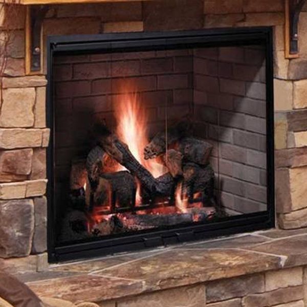 fireplace and chimney. Majestic 38  Biltmore Wood Burning Fireplace Chimney Cricket