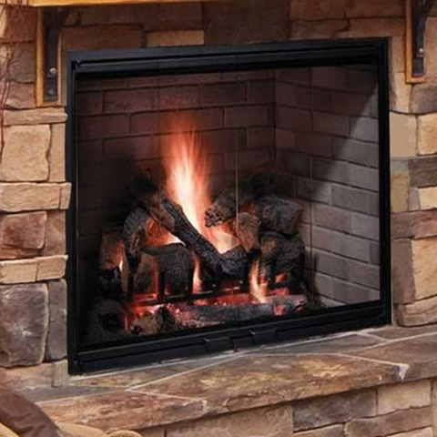 "Majestic 38"" Biltmore Wood Burning Fireplace - Chimney Cricket"