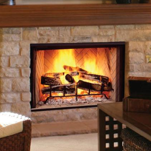 "Majestic 42"" Biltmore Wood Burning Frireplace - Chimney Cricket"