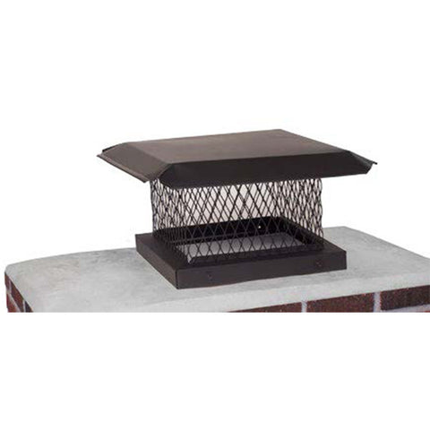 "Bold on Black Galvanized Single Flue Cap 13"" x 13"""