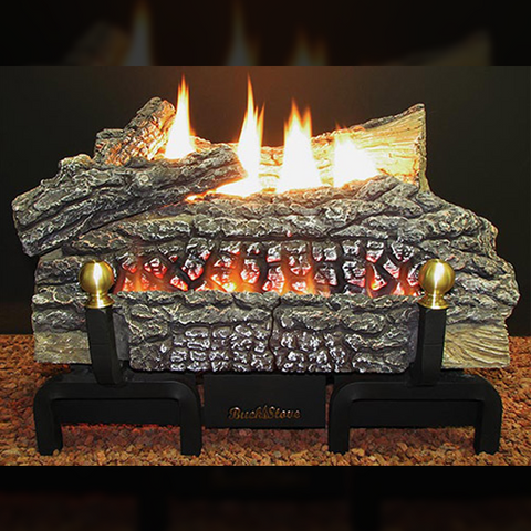 SPECIALTY ITEM:  CALL US FIRST - Monessen Designer Gas Log Sets - Model CR18 Vent-Free Gas Log Set - INCLUDES LOGS, BURNER, REMOTE - Chimney Cricket