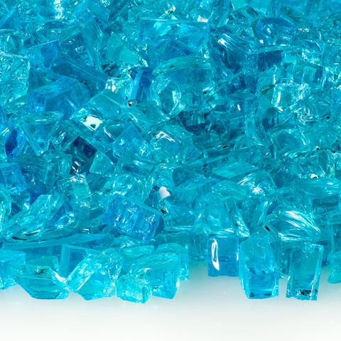 "1/4"" Caribbean Blue Fire Glass - 10 lbs. - Chimney Cricket"
