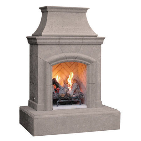 Chica Outdoor Fireplace (Natural Gas only) - Chimney Cricket