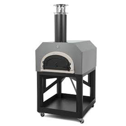 Chicago Brick Oven 750 Pizza Oven Cart Model - Silver - Chimney Cricket