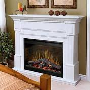 DIMPLEX Essex Electric Fireplace Mantel Package - White - Chimney Cricket