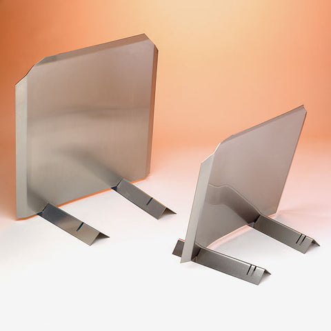 Fireplace Accessories - Stainless Steel Radiant Fireback / Heat Reflector