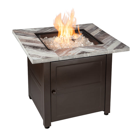 """Duvall"" LP Gas Outdoor Fire Pit - Chimney Cricket"