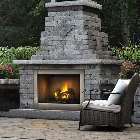 Napoleon Riverside Series Outdoor Gas Fireplace - Chimney Cricket