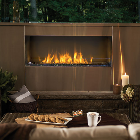 Napoleon Galaxy Series Outdoor Linear Gas Fireplace - Chimney Cricket