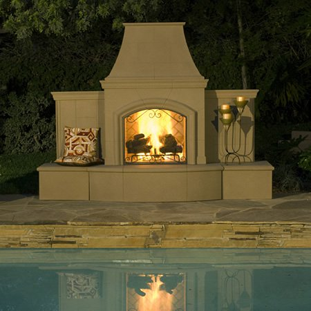 Grand Phoenix Outdoor Fireplace - Chimney Cricket