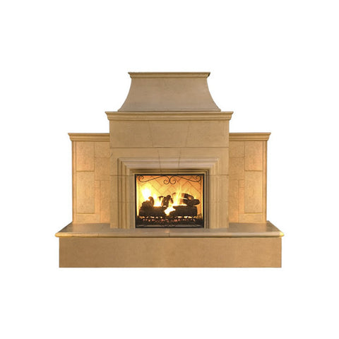 Grand Cordova Outdoor Fireplace - Chimney Cricket