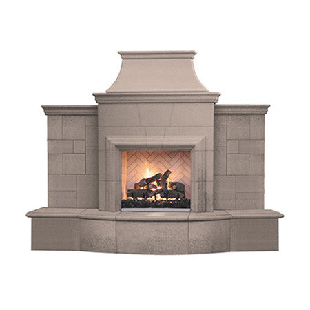 Grand Petite Cordova Outdoor Fireplace - Chimney Cricket