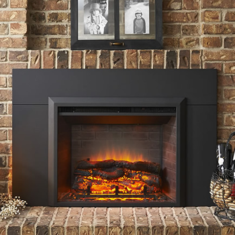 "GreatCo Electric Fireplace Insert - 36"" or 42"" - Chimney Cricket"