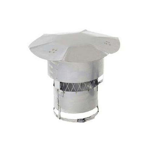 "Quick Cap with 5/8"" Screen and Wind Guard (California Cap) - Chimney Cricket"