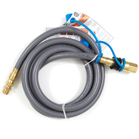 "1/2"" Inch Natural Gas Hose with Quick Disconnect - Chimney Cricket"