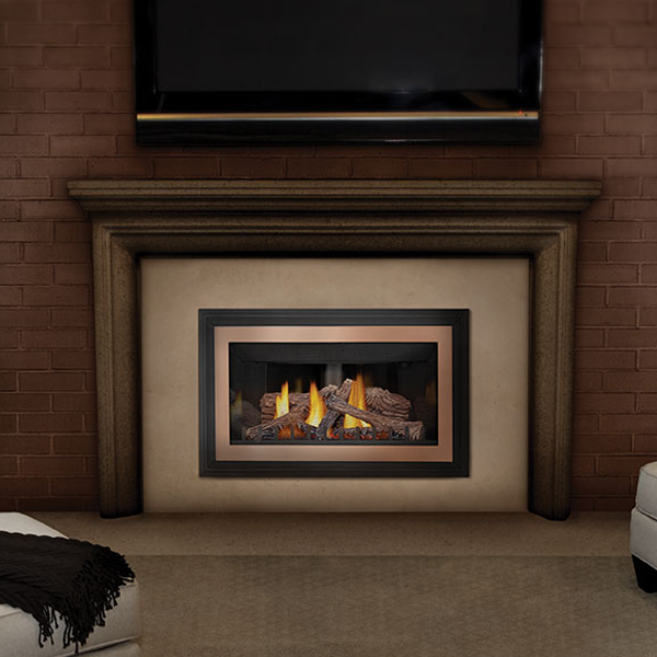 The multi-level advanced burner technology of the Napoleon Inspiration™ ZC Gas Fireplace Insert produces beautiful