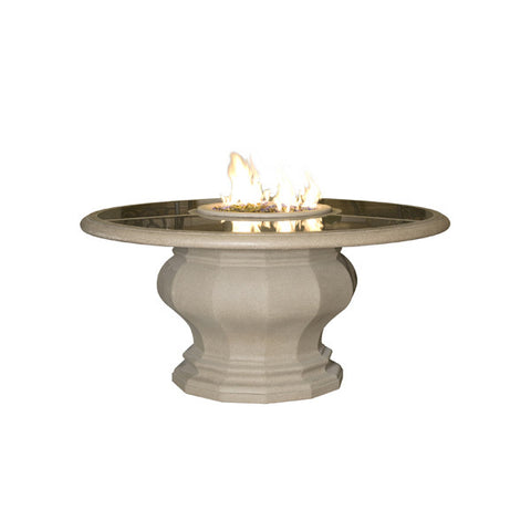 Inverted Dining Firetable with Concrete Top - Chimney Cricket