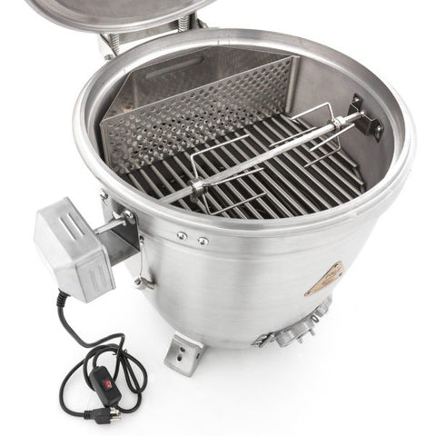 Kamado Rotisserie Kit with Charcoal Basket - Chimney Cricket