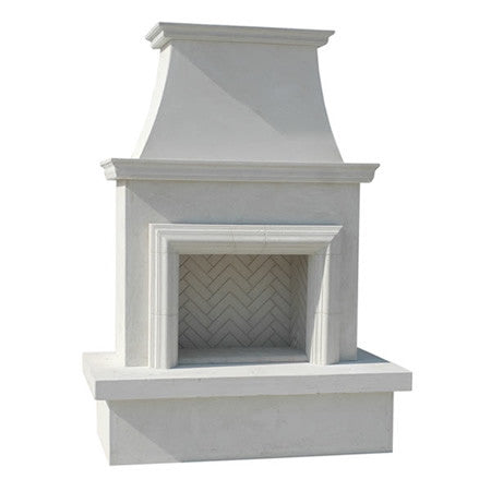 Contractor's Model with Moulding Outdoor Fireplace - Chimney Cricket