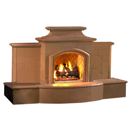Grand Mariposa Outdoor Fireplace - Chimney Cricket