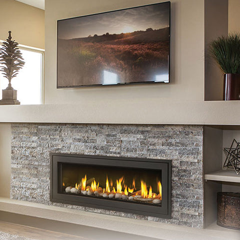 Vector™ 50 Linear Gas Fireplace Direct Vent Gas Fireplace - Chimney Cricket