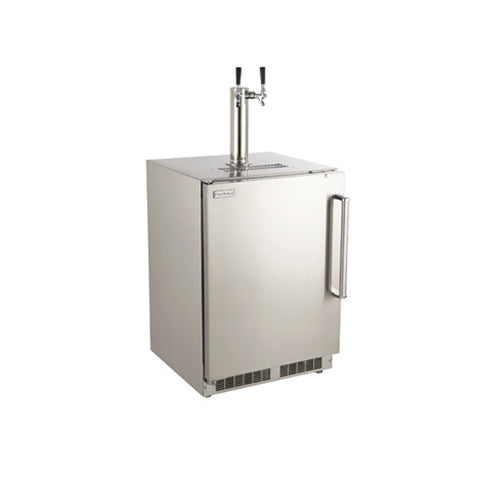 Outdoor Rated Kegerator with Fire Magic Style Handle - Chimney Cricket