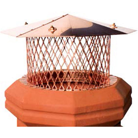 Pot Toppers Copper Round I.D. With Octagon Lid - Chimney Cricket
