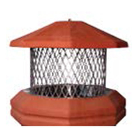 Pot Toppers Stainless Round I.D. With Clay Octagon Lid - Chimney Cricket