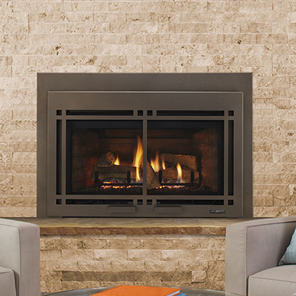 Realistic split logs and flames give the Ruby Series the ambiance and look you expect