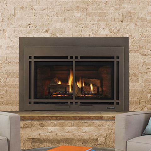 Majestic Ruby Direct Vent Gas Fireplace Insert - Medium - Chimney Cricket
