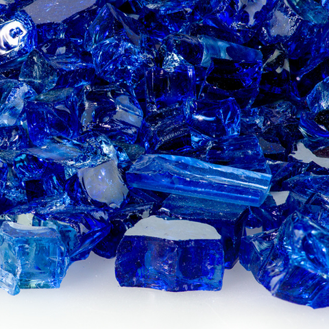 "1/2"" Sapphire Reflective Fireglass - Chimney Cricket"