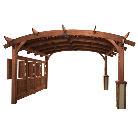 Sonoma Arched Pergola - 12x12 - Mocha - Chimney Cricket